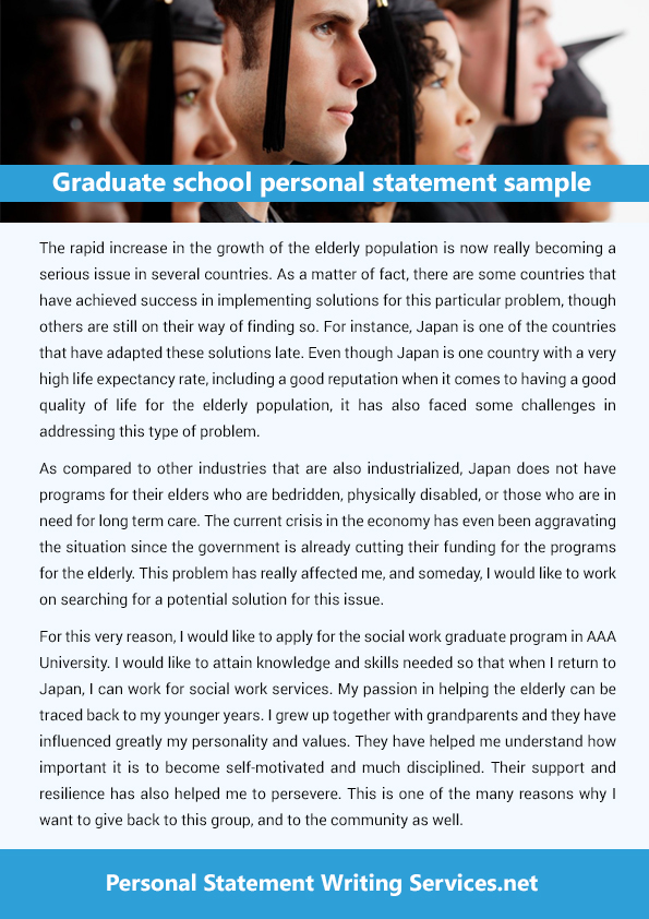 graduate school personal statement sample